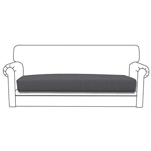Easy-Going Funda de cojín elástica para sofá o sofá, funda de sofá, suave flexibilidad con parte inferior elástica (cojín de sofá, gris)