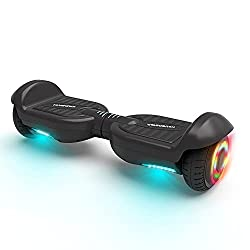 affodable HOVERSTAR brand new HS 2.0v hoverboard matte color 2 wheel self-balancing electric scooter with lightning bolts (black)