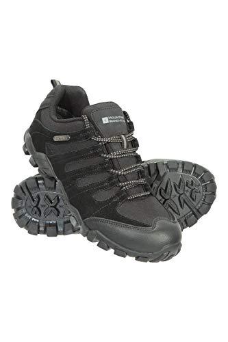Mountain Warehouse Belfour Wanderschuhe für Damen - leichte Laufschuhe atmungsaktiv, Allwetterschuhe zum Schnüren - Für Trekking, Fitness und Jogging Schwarz 40 EU