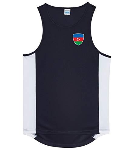 Nation Aserbaidschan Trikot Tank Top Athletic Sport Gym ATH BR-SC (L)