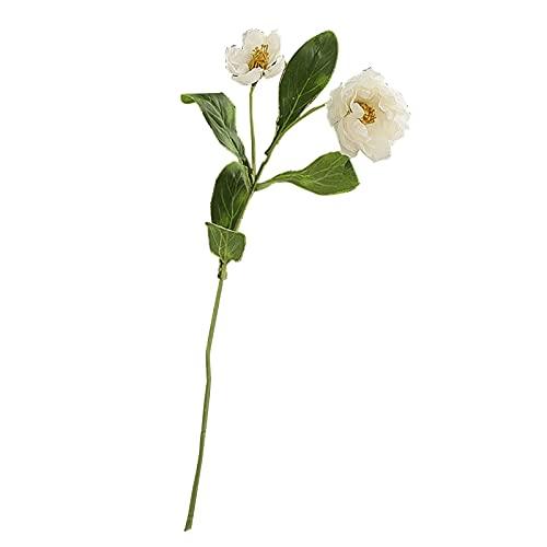 Hislaves Flor falsa, 1 unidad de planta de simulación, sin avergonzar, sin olor, de seda sintética, centros de mesa, centros de mesa, flores de simulación para el hogar, color blanco