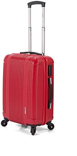 Maleta DE 70 CM Color Rojo Fabricada EN Material RIGIDO DE ABS con 4 Ruedas MULTIDIRECCIÓN