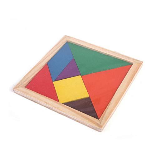 Juego De Puzzle De Madera Cerebro Formación Geometría Junta Tangram Puzzle De Madera Tetris Rompecabezas Chino del Enigma del Niño De Juguete Educativo para Los Niños