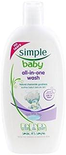 すべて1回の洗浄300ミリリットル中の赤ちゃん (Simple) (x 6) - Simple Baby All in One Wash 300ml (Pack of 6) [並行輸入品]
