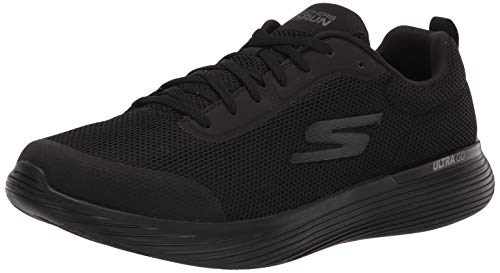 Skechers mens Gorun 400 V2 Omega - Performance and Walking Running Shoe, Black, 11.5 US