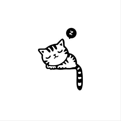 Lvitsy Pegatinas De Interruptor De Gato Pegatinas De Pared Calcomanías De Vinilo Artista del Hogar Decoración del Hogar Dormitorio Sala De Estar Oficina