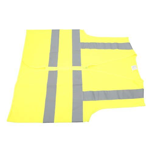 Chaleco Reflectante, Chaleco de Seguridad Duradero Amarillo Fluorescente de 360 Grados, poliéster Transpirable al Aire Libre para Caminar, Correr, Andar en Bicicleta