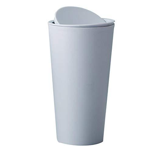 AKJQ Müll, Mülldosendeckel Shake-Board-Speicher Barrels Nachttisch Minitisch abgedeckt Papierkorb Schlafzimmer Haus Glove Barrels,Hellblau