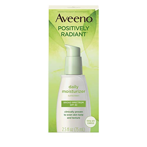 Aveeno Positively Radiant Daily Facial Moisturizer with Total Soy Complex and Broad Spectrum SPF 30...