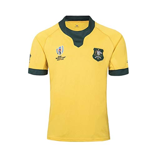 Lvlo Australian-Team Rugby World Cup, American Football Sportkleidung, T-Shirt Rugby-Klage (Color : Yellow, Size : XL)