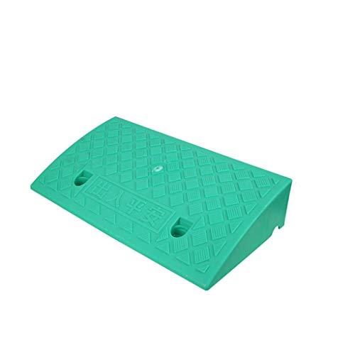Z-W-Dong Multifunktions-Kunststoff-Rampen, Pflege Home Service Rampen Fahrrad/Scooter Rampen Skate Rampen/Multi-Height Rampen (Color : Green, Size : 50 * 27 * 11cm)