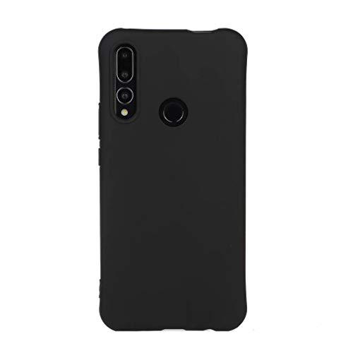 Qsdd Replacement for Huawei P Smart Z 2019/Y9 Prime 2019 Custodia Ultra Sottile Morbido Silicone TPU Anti-Caduta Antigraffio Cabina Telefonica Anti Impronta Digitale Antiurto Caso-Nero