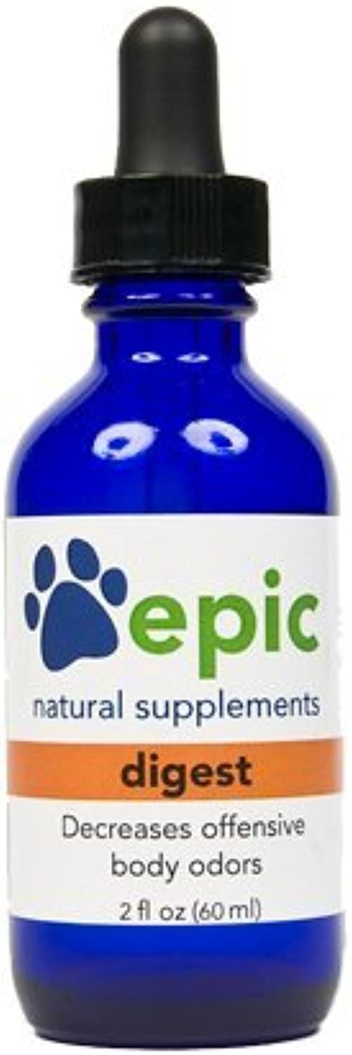 Digest  Decreases Bad Breath and Improves Digestion Naturally (Dropper, 2 ounce) by Epic Pet Health