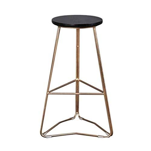 ZXSFD Tabouret de Bar rétro Chaise Moderne Minimaliste Hauts tabourets Cadre en métal et siège en Bois Massif Bar Chaises Pieds en métal Tabourets de Bar (Size : 45cm)