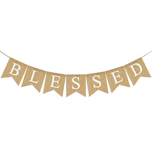 Blessed Banner Burlap| Blessed Bunting| Rustic Thanksgiving Decor| Thanksgiving Banner| Family Photo Prop| Mantle Fireplace Hanging Decor | Holiday Decorations