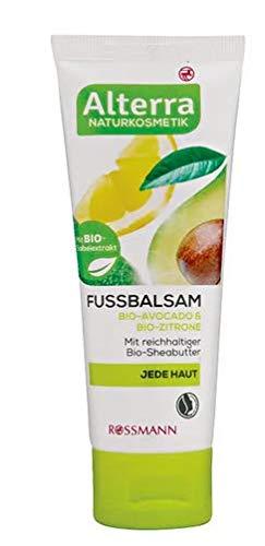 Alterra Naturkosmetik Fussbalsam Bio-Avocado & Bio-Zitrone - mit reichhaltiger Bio-Sheabutter - pflegt langanhaltend und sorgt für geschmeidige Füße.
