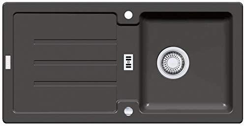 Franke Strata STG 614 - Fregadero de granito, color negro