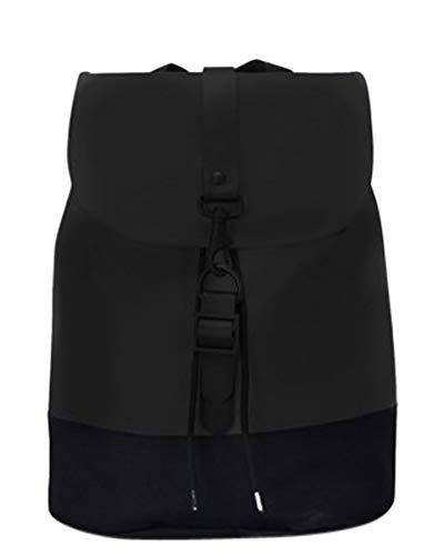Rains Drawstring Backpack, Mochila Unisex Adultos, Negro (