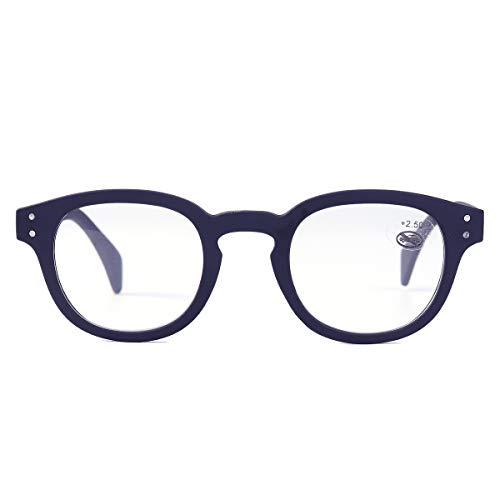 EgBert Mode Lesebrille Harz Feder Beine Presbyopie Brille - Blau - 1.5