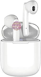 Auriculares inalámbricos Bluetooth 5.0,Control táctil, IPX5 reducción del Ruido estéreo 3D HD, con micrófono y Estuche de ...