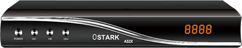 Ostark AS2X Receptor de satelite DVB-S2X Full HD H,265 mas USB WiFi Incluido ethernet Soporte Youtube (Electrónica)