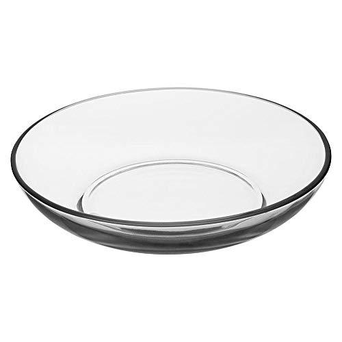 Ensaladera tazón de servir de vidrio