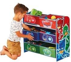 Familie24 Holz Spielzeugregal Auswahl Regal Frozen Cars Minnie Maus Mickey Maus Winnie Pooh Kinderregal Organizer (P J Masks)