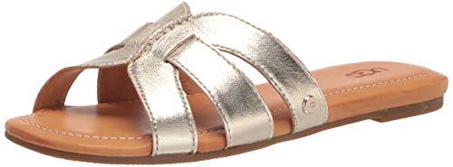 UGG Damen Teague Schiebe-Sandalen, metallic-goldfarben, 39 EU