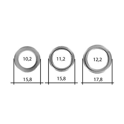 30 teiliges Fitschenring Sortiment | Ø 10,2/11,2/12,2 mm | verzinkt | Fitschenringe I Unterlegscheibe I Türscharnier | zum anheben von Türen