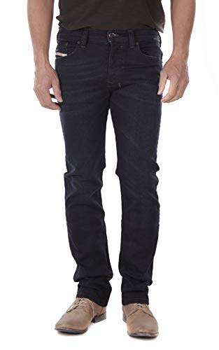 Diesel Herren Jeans Hose Safado-R Regular Slim-Straight Mens Jeanshose R46D8 Stretch (W32/L30)