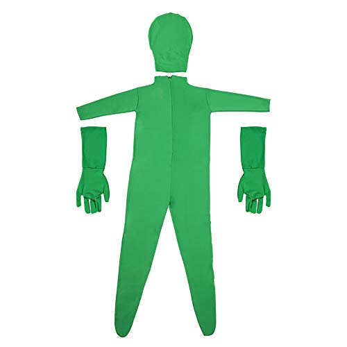 Green Screen Bodysuit Stretch Disappearing Man Body Suit For Photo Video Shooting Photography Background (Green Separate Style, XL-(175-185CM))