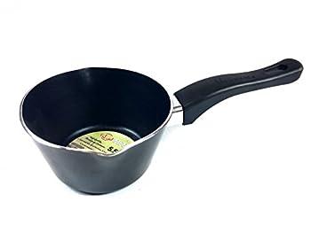 Uniware 5.5   Nonstick Aluminum Saucepan With Pour Spouts,Dishwasher Safe,Heat-Resistant Handles  5.5 inch