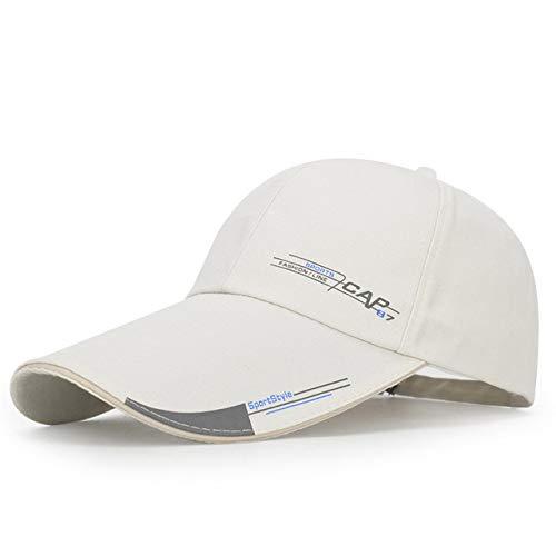 Mdsfe Unisex Baumwolle bestickte Baseballkappe verstellbare Strandmütze Schirmmütze Beige, 5560cm