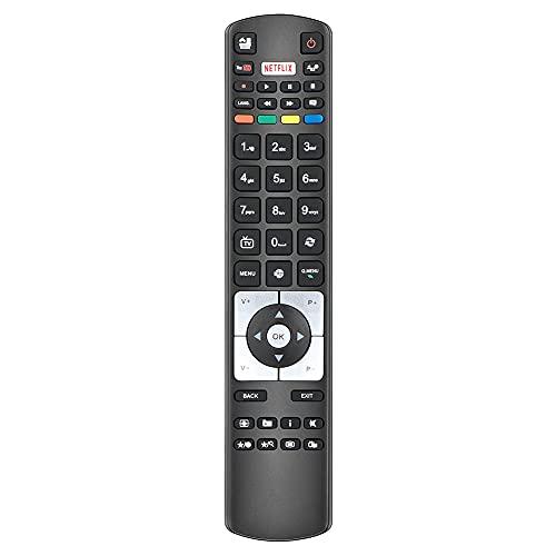 Gvirtue RC5118 Fernbedienung für Hitachi Telefunken TV 48WF400A A40F446A A55F446A C55U320A4CW-3D D32F286B4CW D32F287N4CW D32H286B3CW D39F265B3CW (Netflix YouTube Taste)