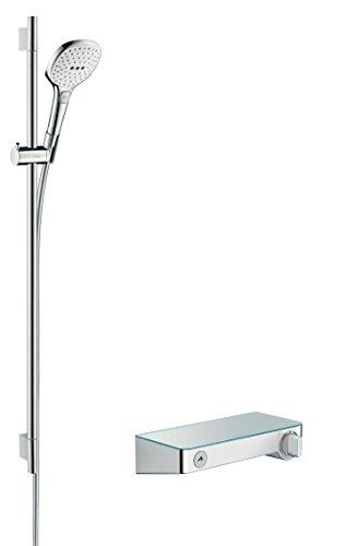 hansgrohe Raindance Select E 120 Thermostatset 0,90m, 3 Strahlarten, Weiß/Chrom