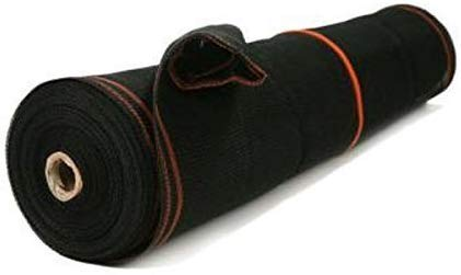Construction Safety Debris Netting - 150 Ft Temporary Mesh Netting Material, Scaffold Net Enclosure, Barricade, Visibility Barrier, Fencing Roll - Heavy Duty Fire Retardant Plastic - Black