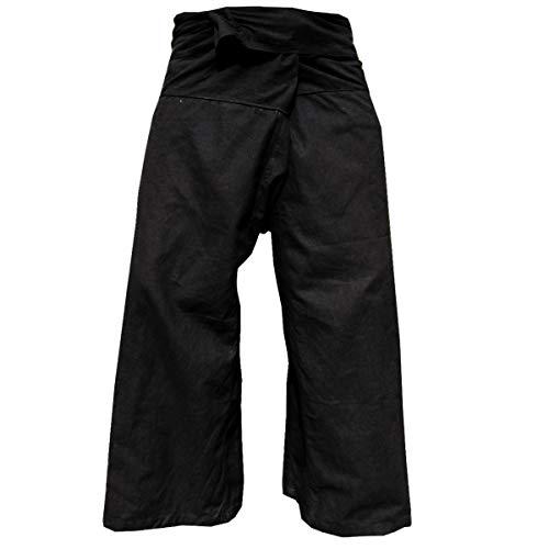 PANASIAM Fisherman Pants Unicolor, Black, L