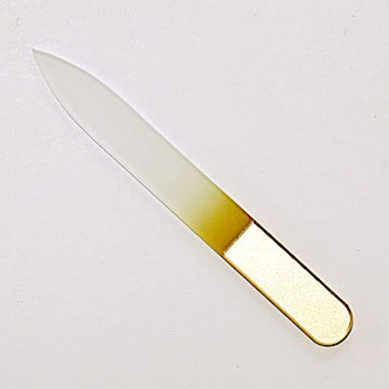 過言泥だらけ最も遠いチェコ製 AXiON(アクシオン)ガラス製爪ヤスリ(ゴールド)両面タイプ #slg009614fba