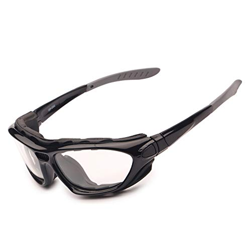 EnzoDate Gafas Motocicleta Polarized Clear Lenses