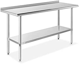 GRIDMANN NSF Stainless Steel Commercial Kitchen Prep & Work Table w/ Backsplash - 60 in. x 24 in.