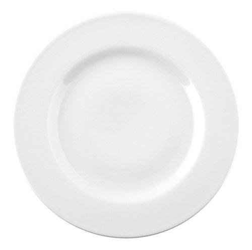 Saturnia Ischia Assiette, Porcelaine, Blanc, 26 x 26 x 2 cm - Lot De 12