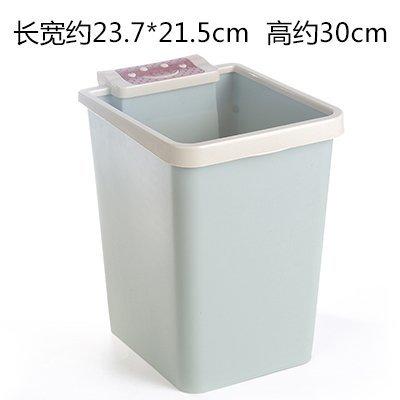 MMXXAIWWAA Große Küche WC mit Druckring Mülleimer Haushaltsquadrat Smiley Plastikmüll Wohnzimmer Badezimmer Papierkorb, blau