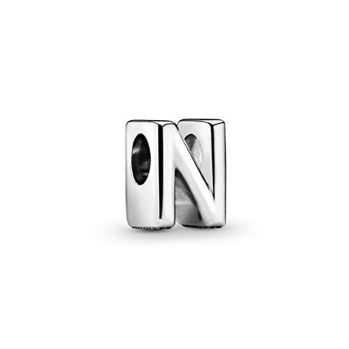 Letter N silver charm