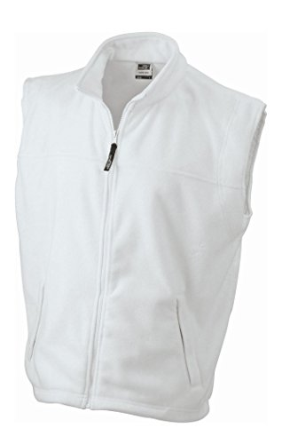 Fleece Vest in White Size: 4XL