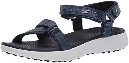 Skechers Women's 600 Spikeless Golf Sandals Shoe, Navy/White, 8 M US