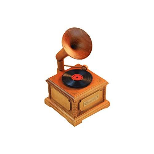 SHYPT La clásica Caja de música Hecha a Mano Grabado láser de la Vendimia de la manivela de la Caja de música de los Beatles de Madera for Regalos de cumpleaños Boda