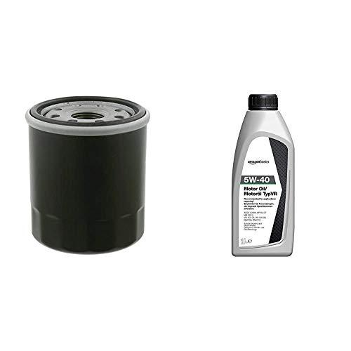 Febi 27149 filtro de aceite + Amazon Basics - Aceite de motor 5W-40 TypVR, 1l