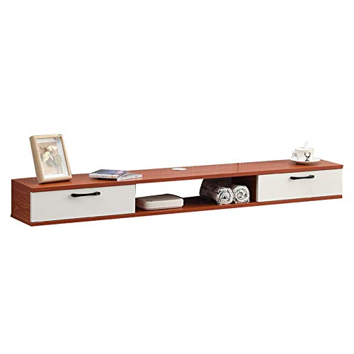 Mueble TV colgante, mueble de TV flotante, mesa flotante para TV, puede almacenar enrutadores, reproductores multimedia, etc, ocupan un área pequeña, adecuada para apartamentos pequeños/B / 1