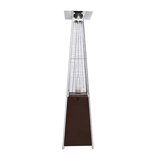 wei Calentador de Patio 13KW Calefacción Tubo de Vidrio de Cuarzo Calentador Torre Propano Gas al Aire Libre Patio Luces de Paisaje para Patio Restaurante Comercial Gazebo A