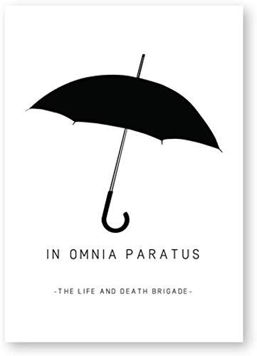 SSWD In Omnia Paratus druckt Gilmore Girls TV Show Poster, Schwarz Weiß Regenschirm Bild Startseite Wandkunst Dekor Kein Rahmen (50x70cm)